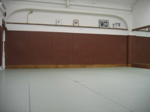 Petite salle de Dojo 5 où ont lieu les cours de Nin Jutsu